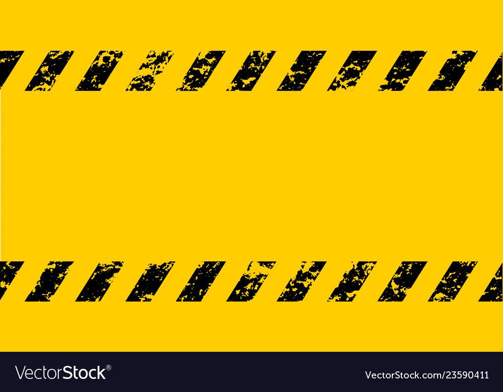 Warning frame grunge yellow black diagonal stripes