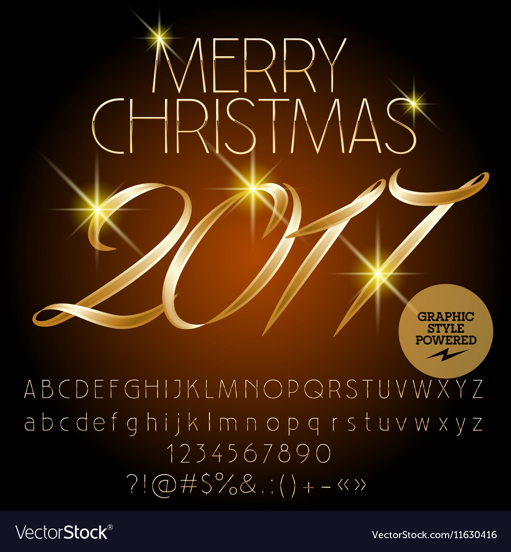 Classic Merry Christmas 2017 greeting card