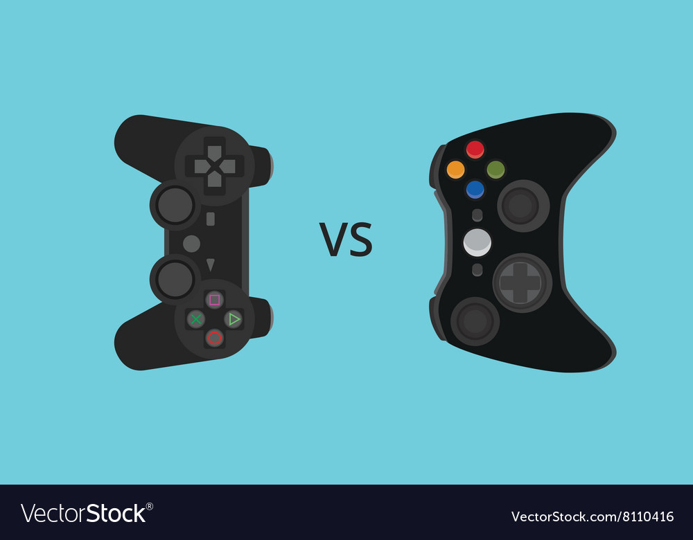 Game console comparing compare versus vector image
