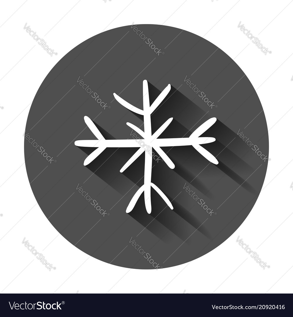 Hand drawn snowflake icon snow flake sketch