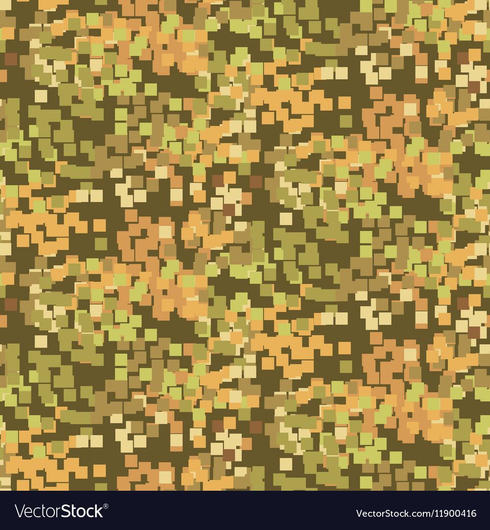 Pixelated sand camouflage seamless pattern