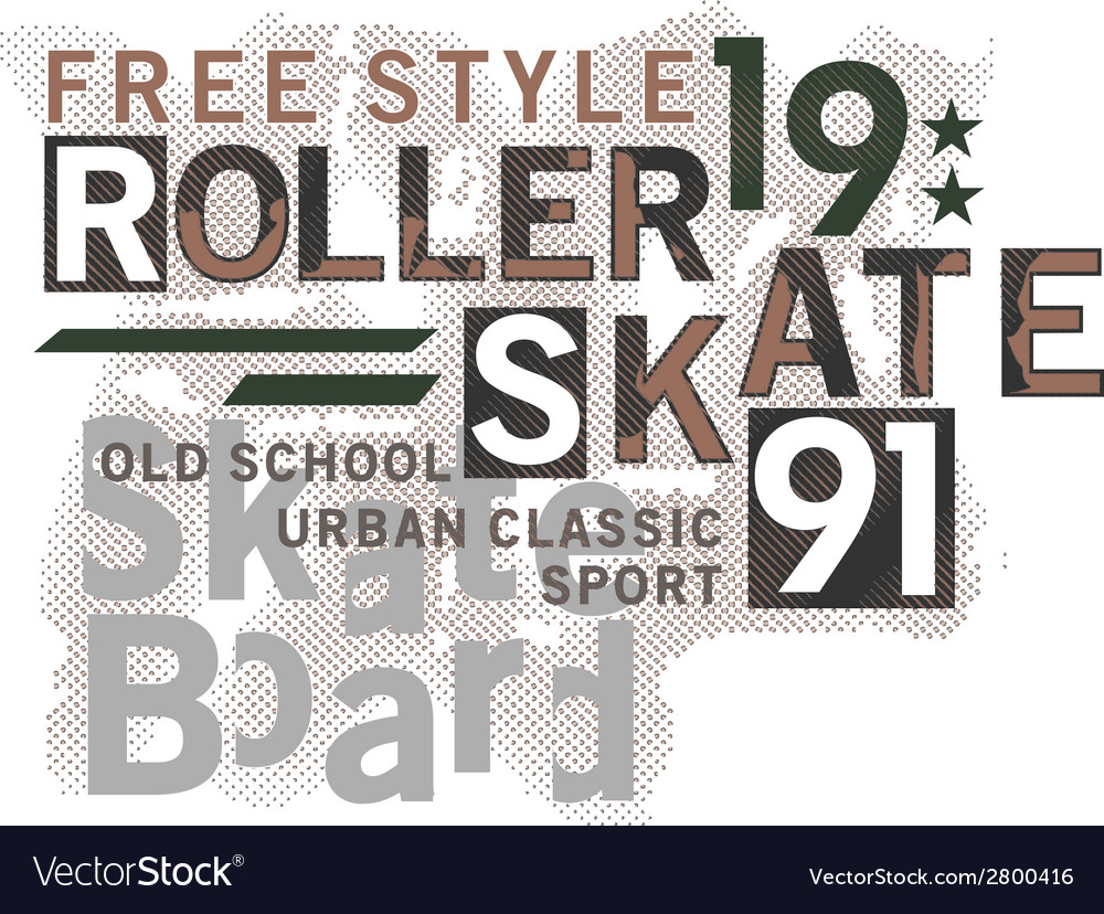Skateboard Text Design