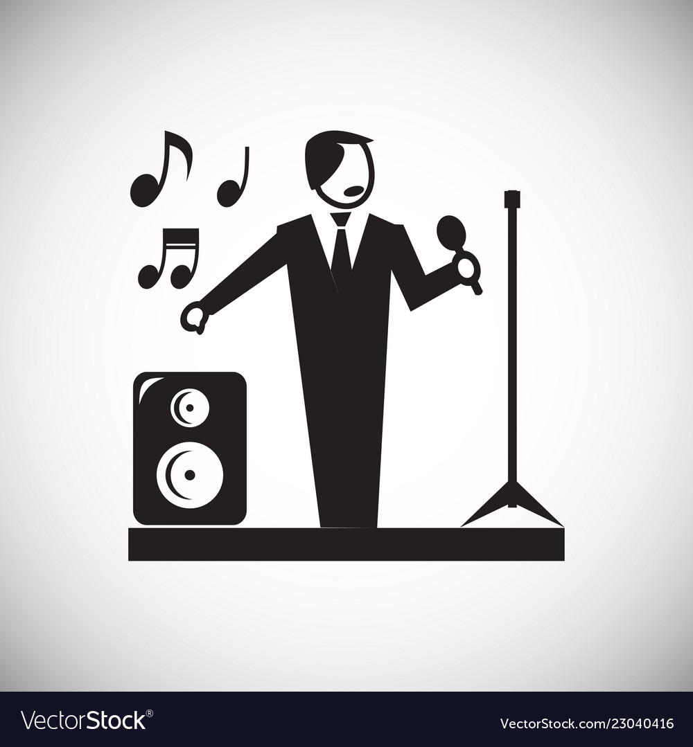 Wedding Singer Icon On White Background For Vector Image