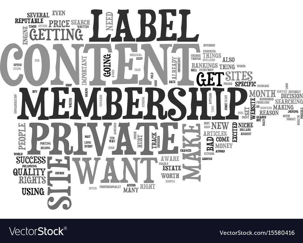 What to look for in a private label membership vector image