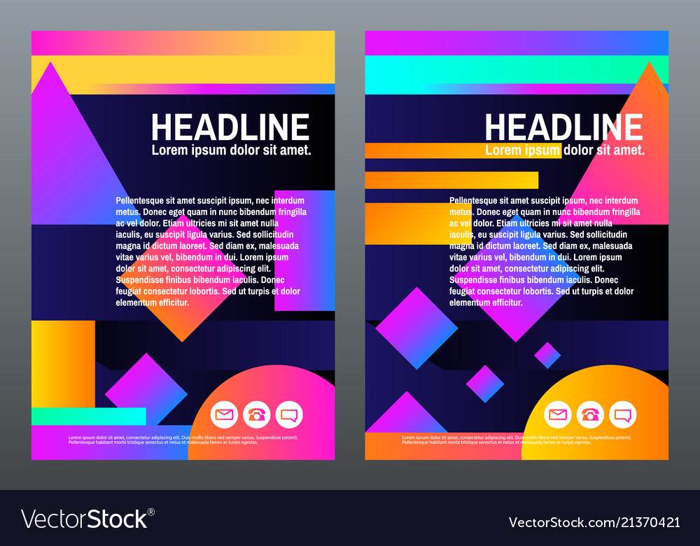 Abstract creative templates covers with geometric