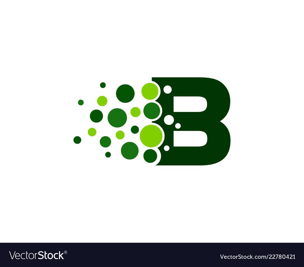 B letter pixel logo icon design