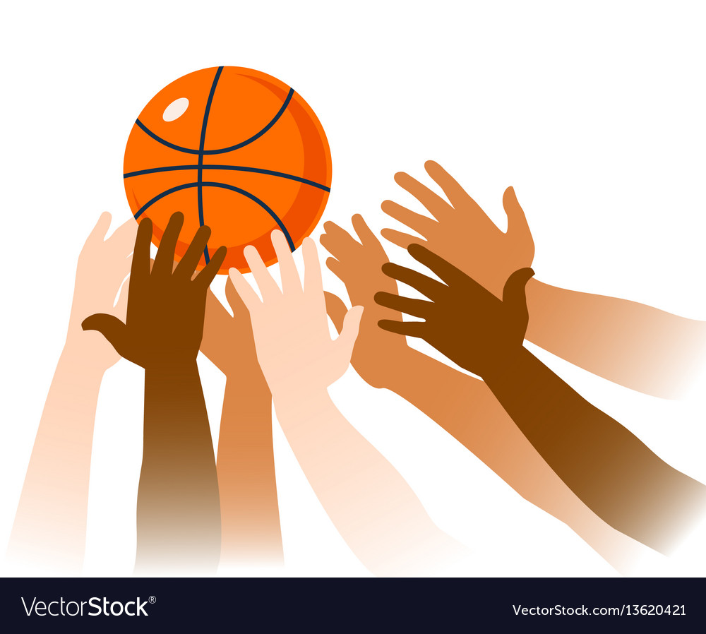 Basketball game moment closeup vector image