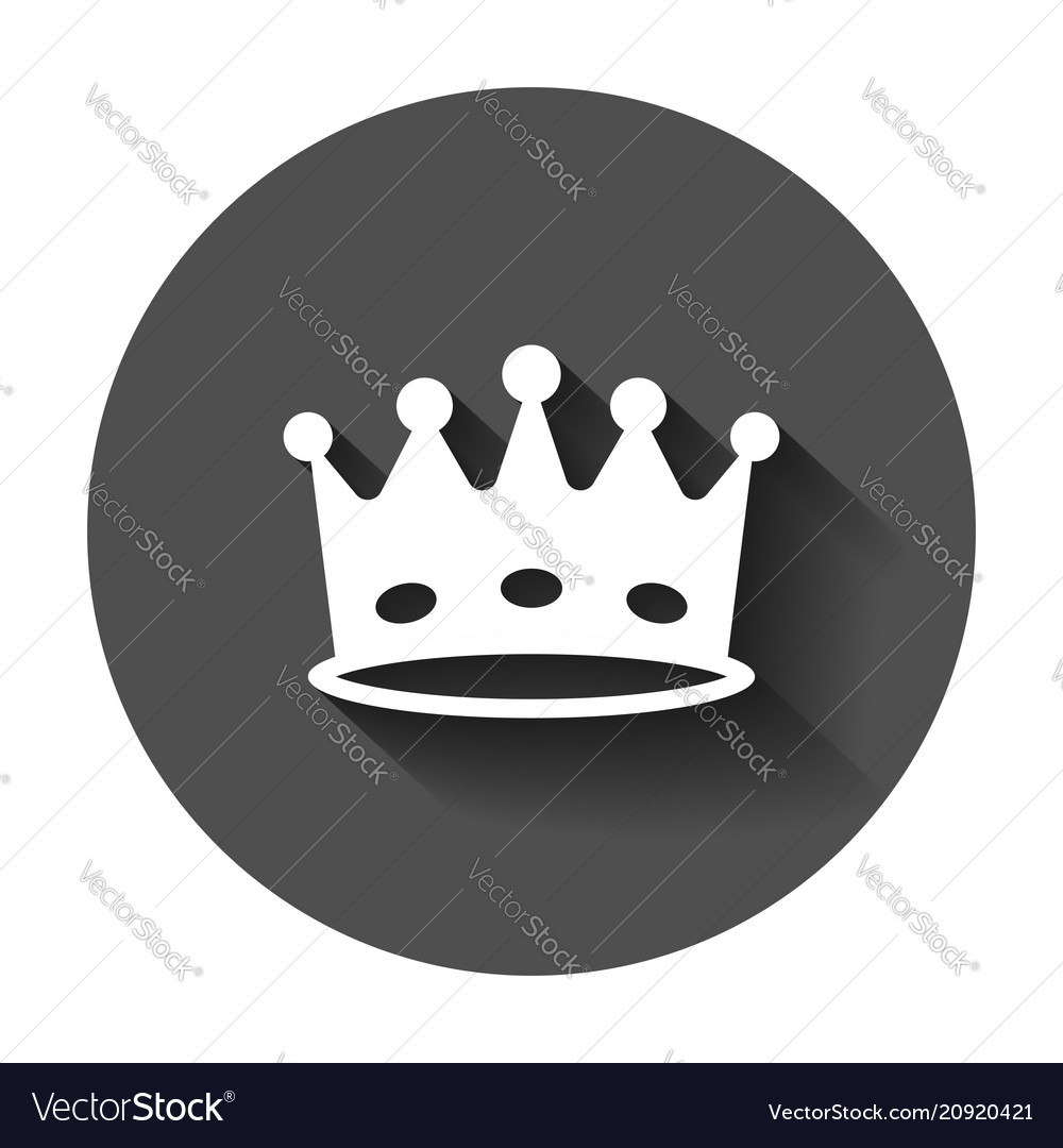 Crown diadem icon in flat style royalty crown