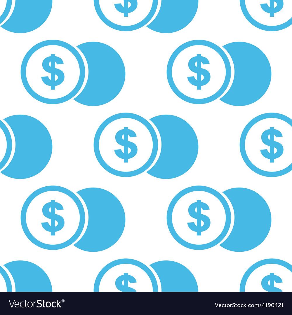 Dollar coin seamless pattern