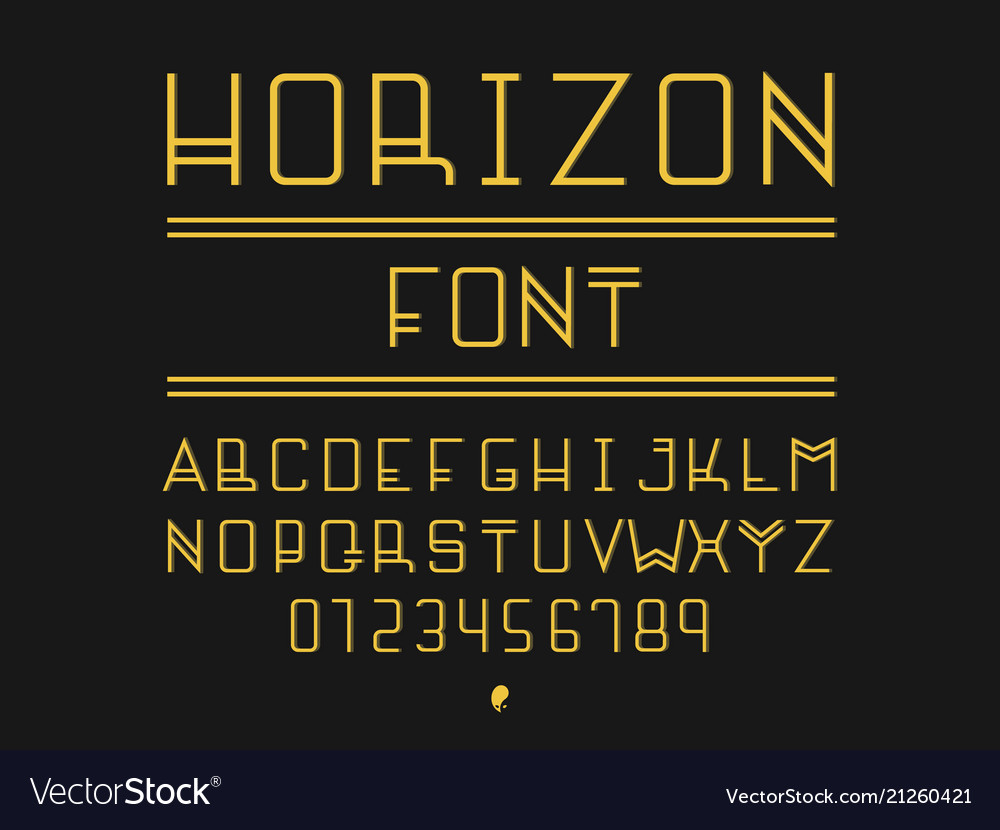 Horizon font alphabet
