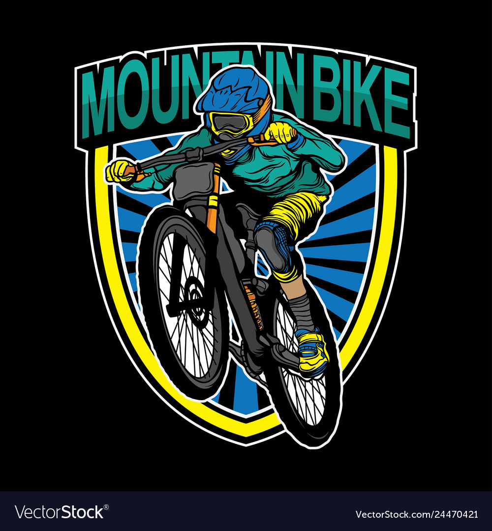 Mountain bike logo design