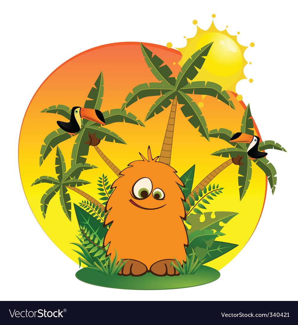 Tropical cartoon animal
