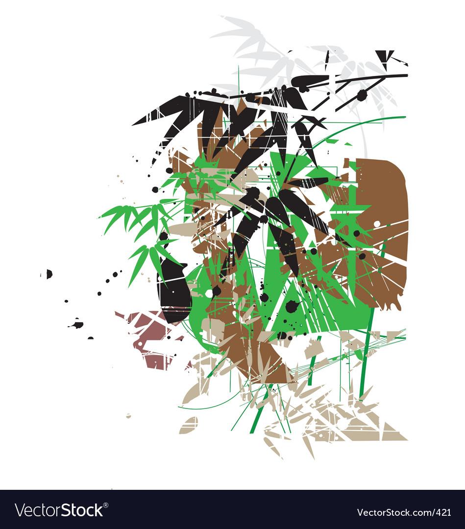 Tropical garden greens vector image