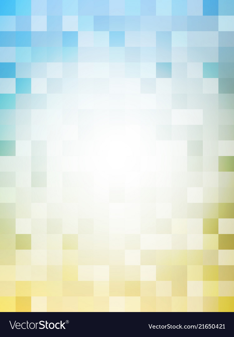 Vertical abstract pixel in blue and yellow