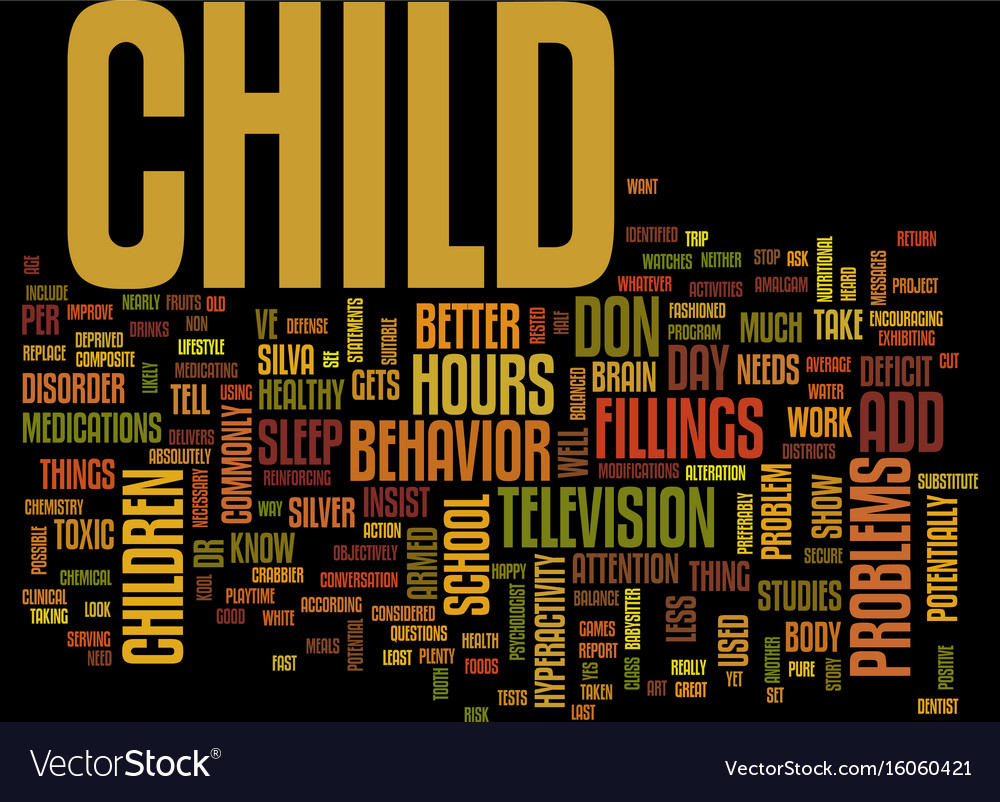 Your child has add text background word cloud vector image