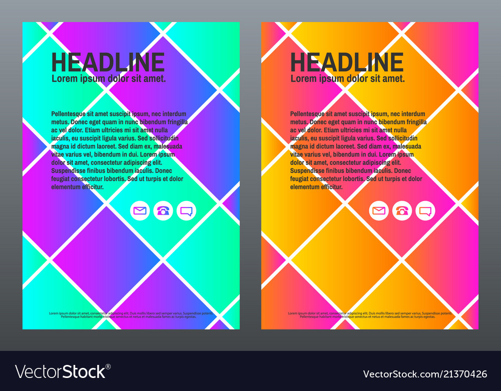 Abstract colorful brochure design template with