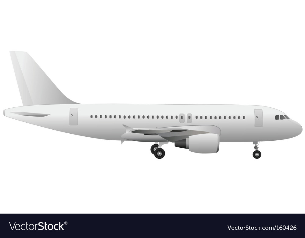airplane royalty free vector image vectorstock