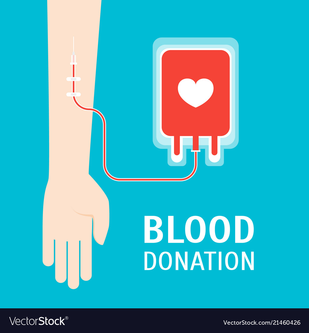 Cartoon blood donor service card poster