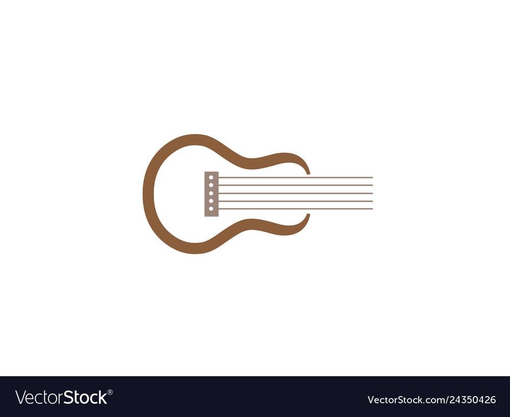 Classical guitar symbol for logo design