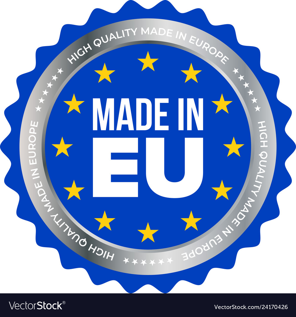 Made in eu high quality product certificate label