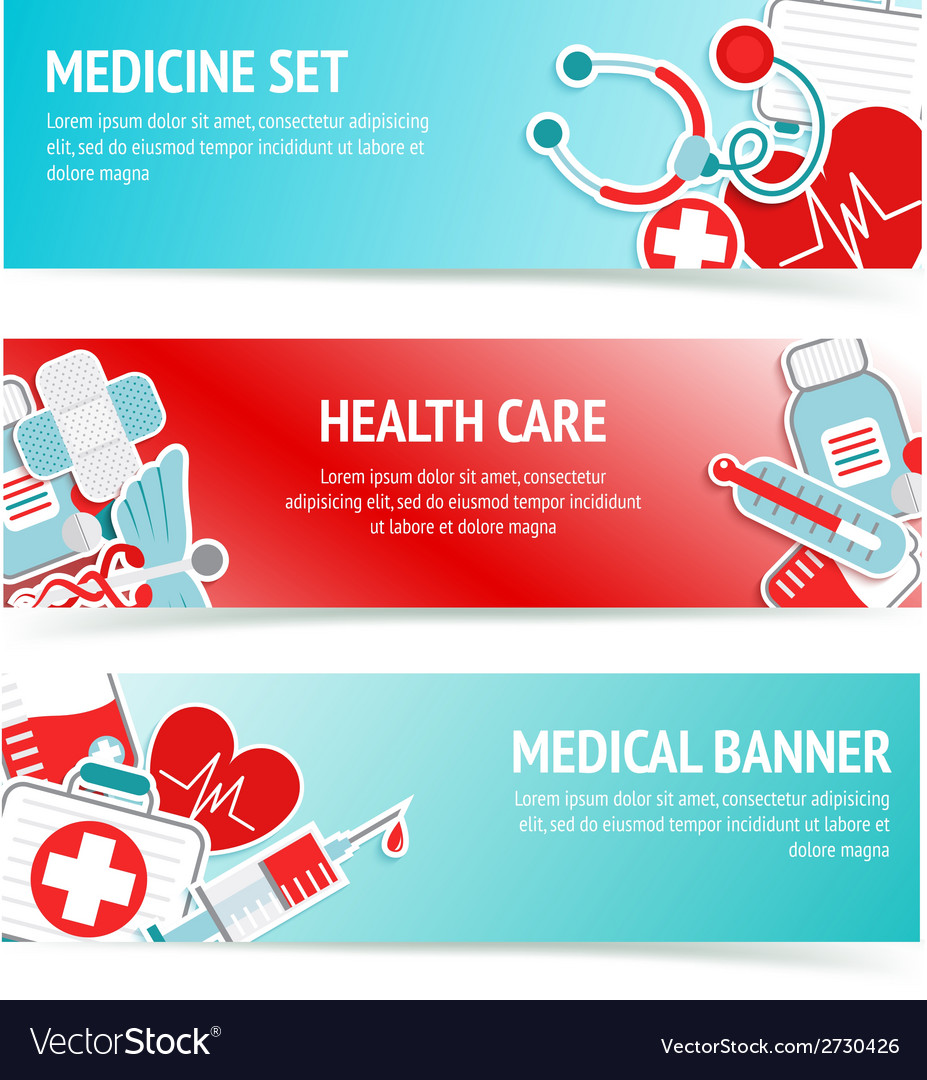 Medical Health Care Banners Royalty Free Vector Image