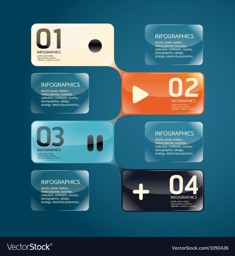 Modern glass Design template vector image