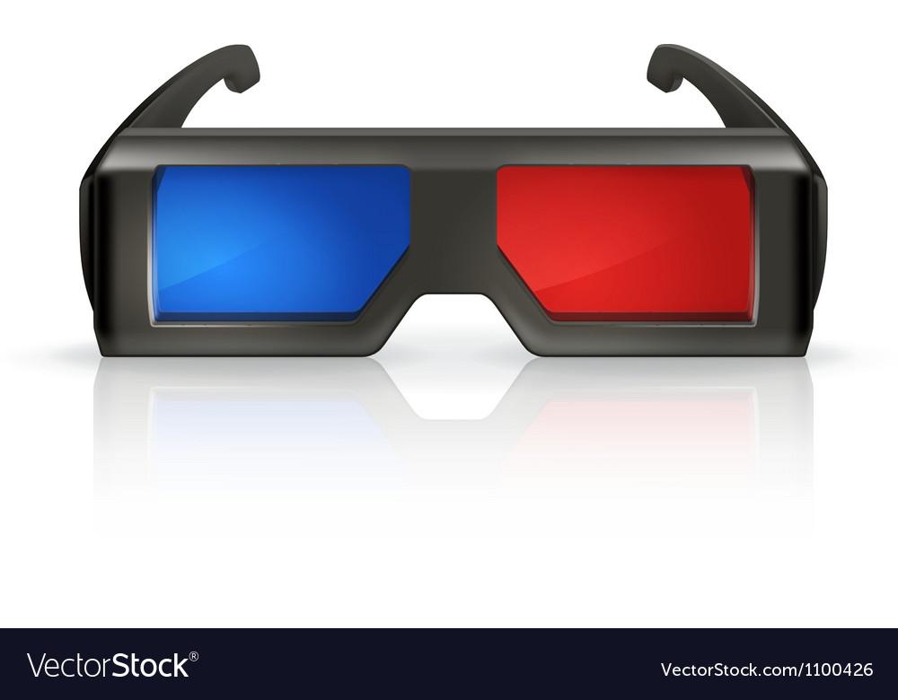 Plastic anaglyph glasses