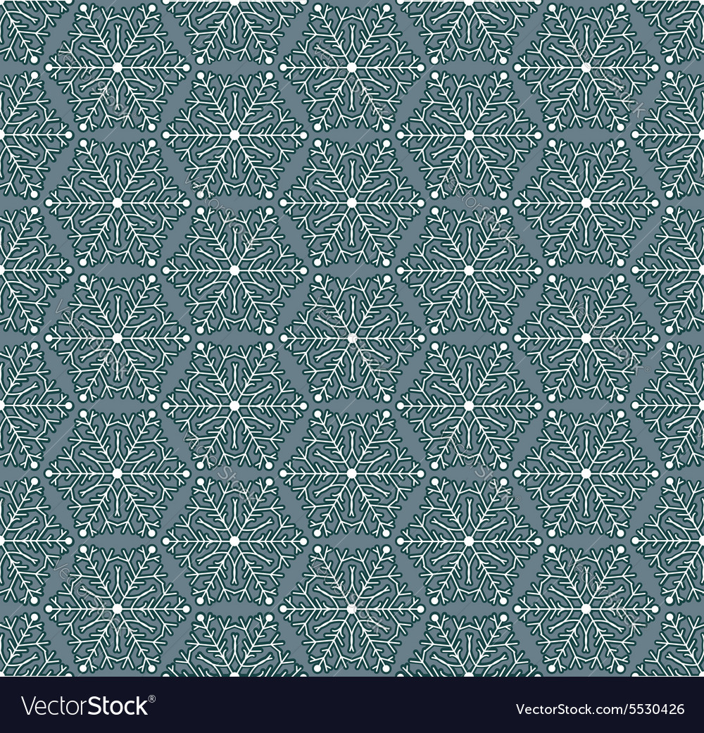 Seamless winter pattern with snowflakes Flat