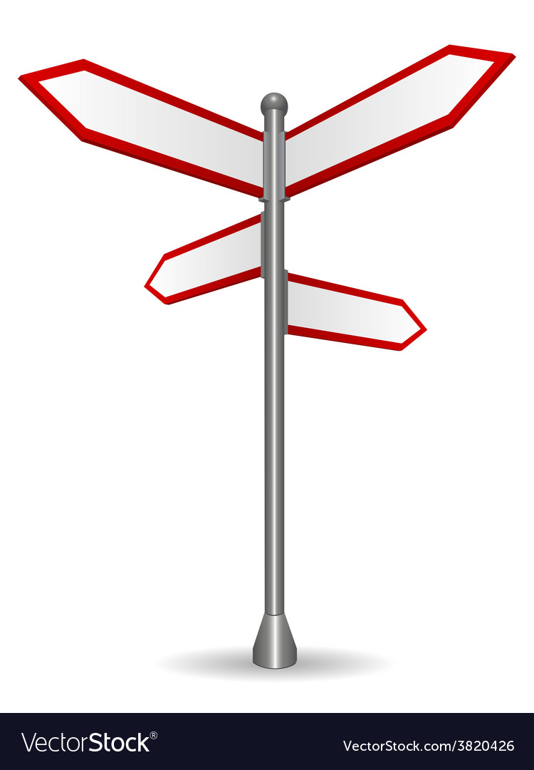 Sign Post Pointing Different Directions Vector Image