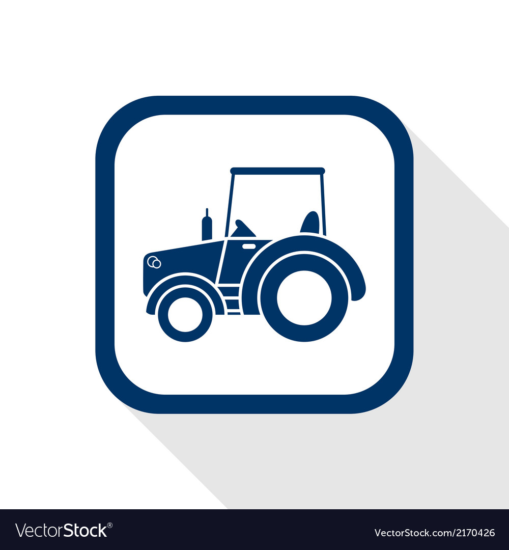 Tractor flat icon