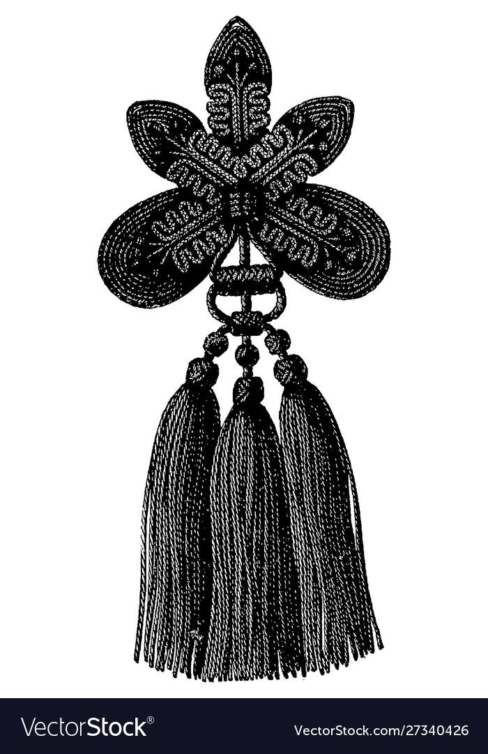 Vintage engraving a tassel