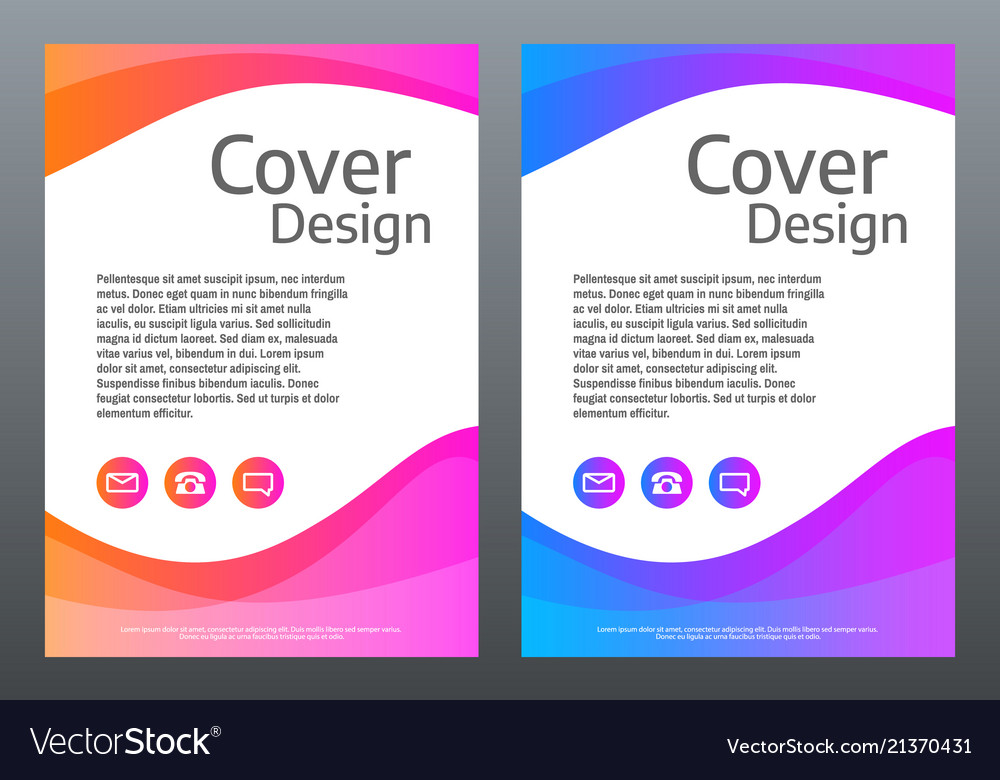 Abstract colorful template bright gradient waves