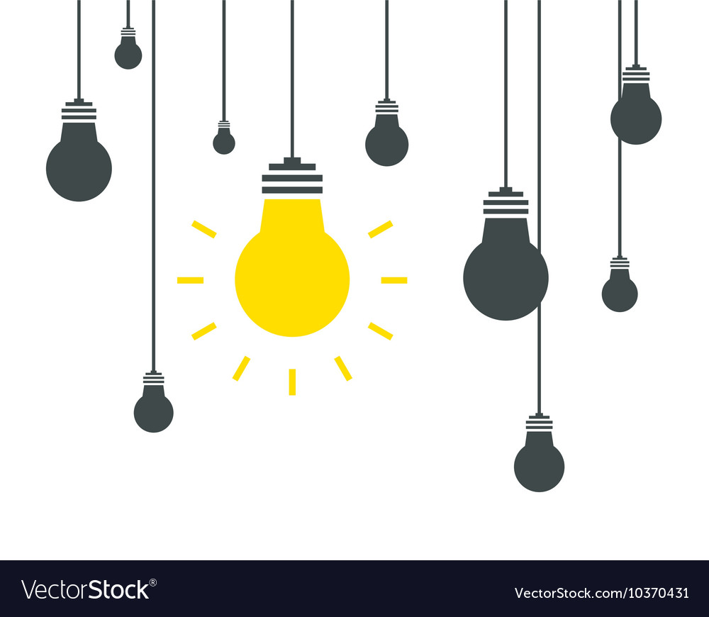 Bulb icons on white background