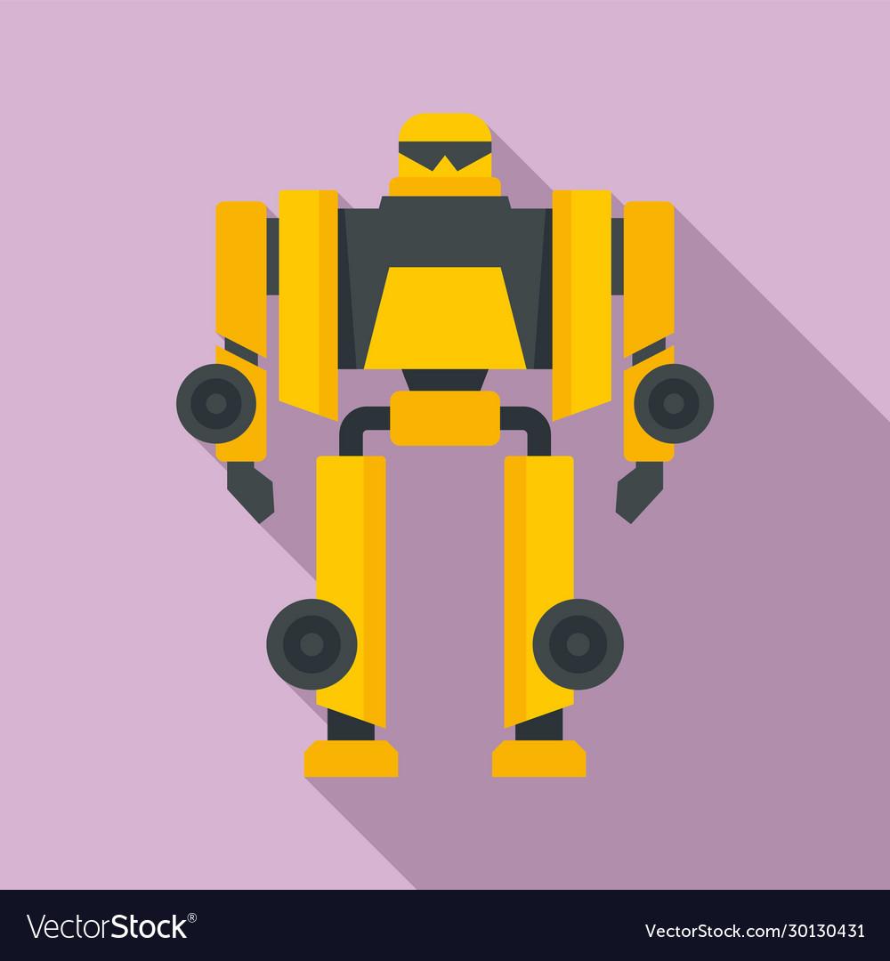 Cinema robot transformer icon flat style