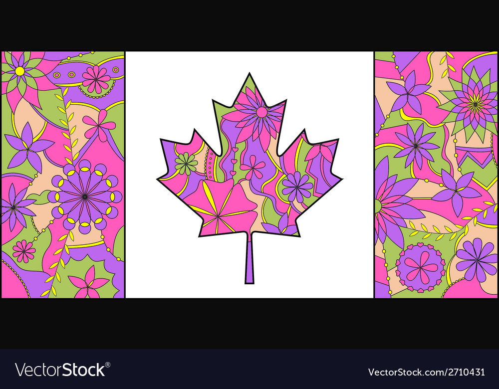 Colorful flag of Canada