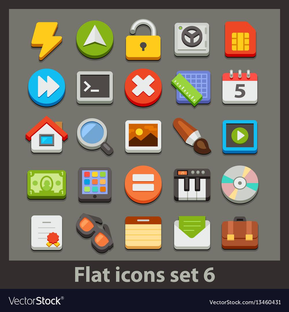 Flat icon-set 6