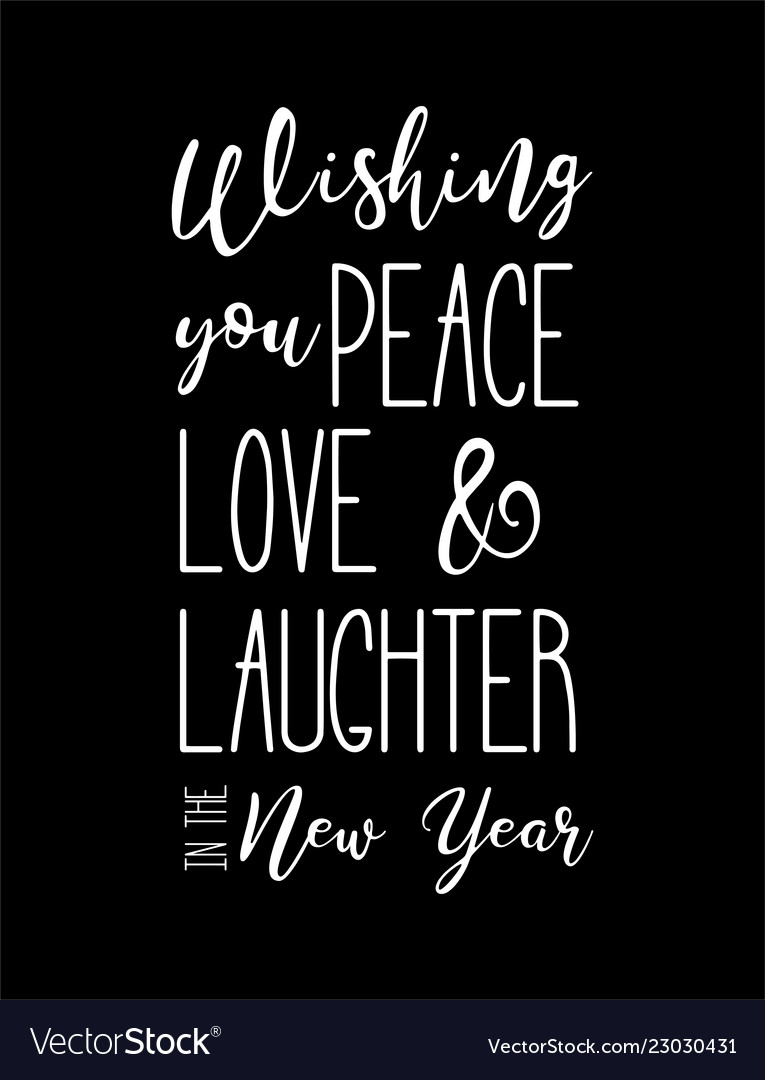 Happy new year wish hand lettering calligraphy