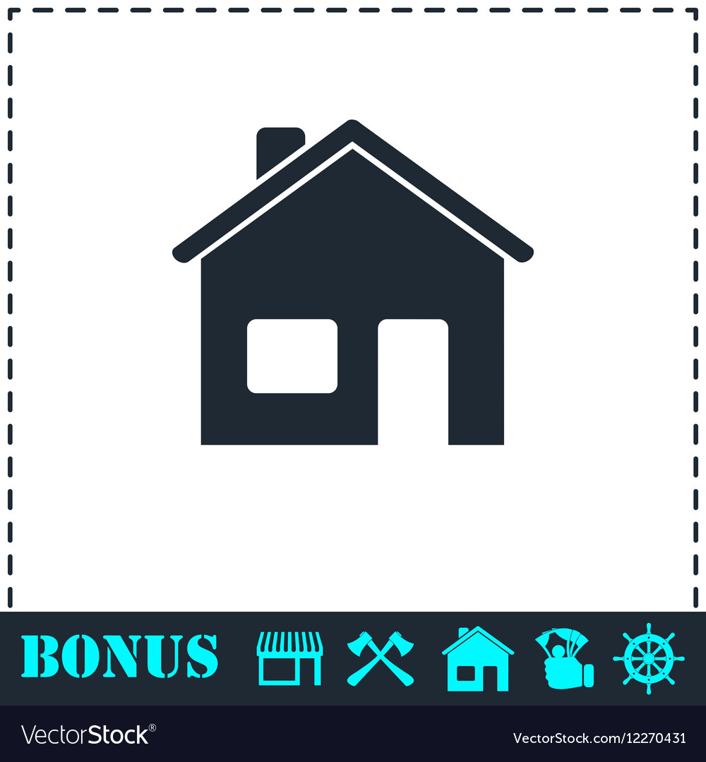 Home icon flat vector image