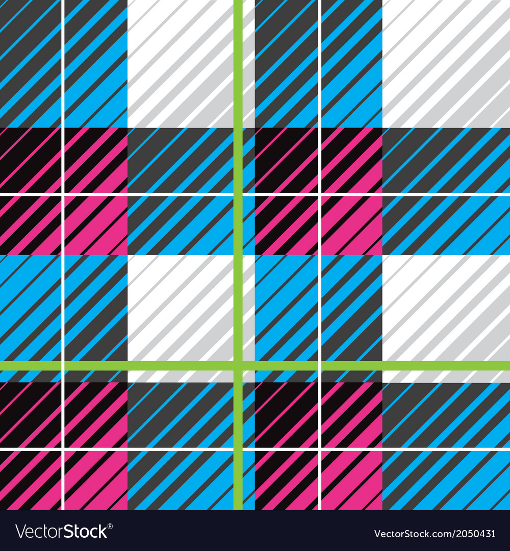 Modern plaid seamless pattern vector image
