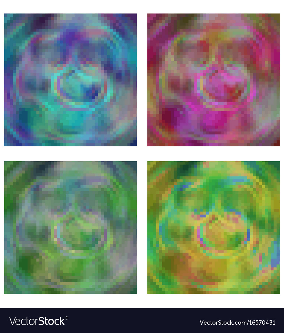 Pixel background abstract in four different color