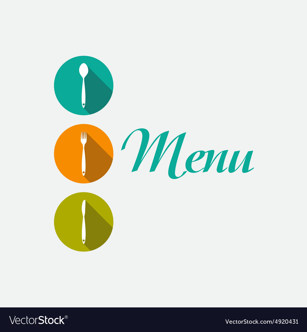 restaurant menu background template royalty free vector