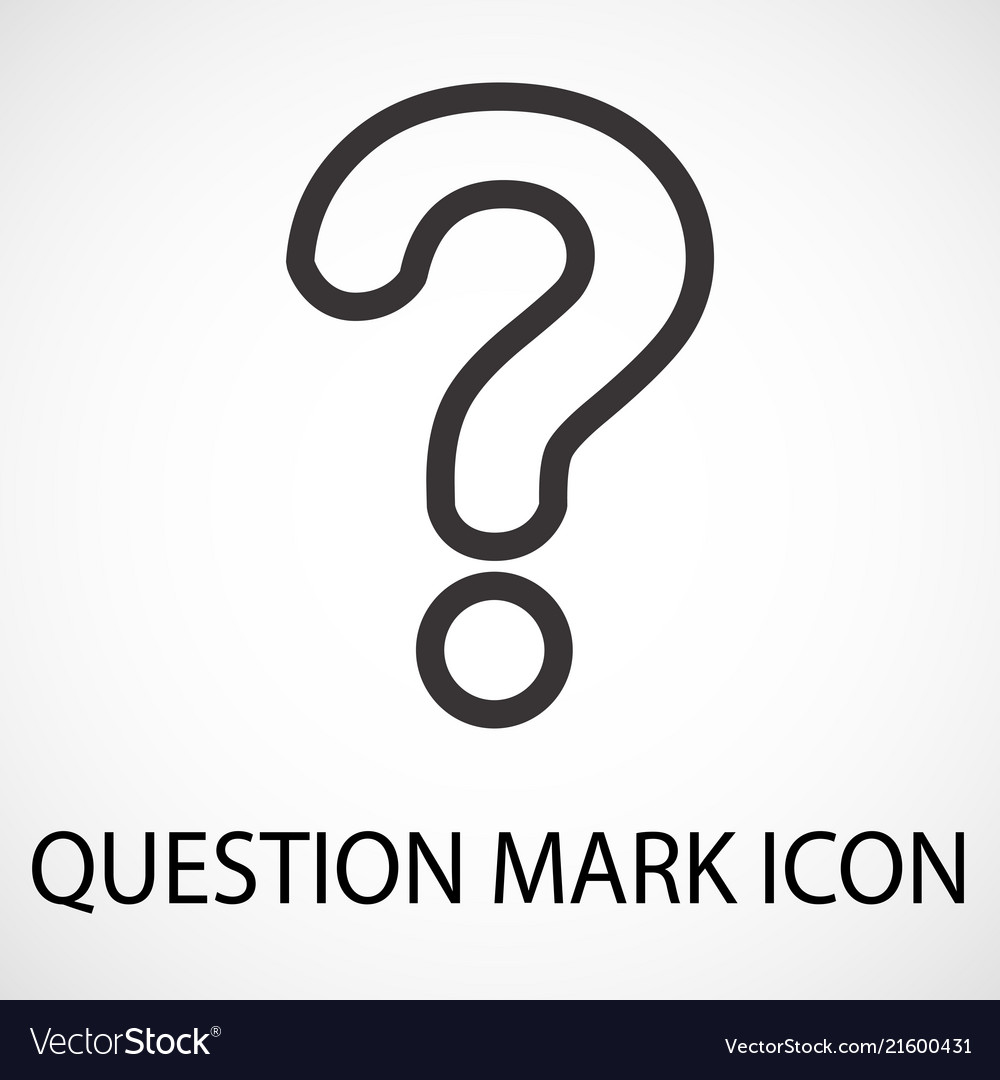 Simple question mark line icon
