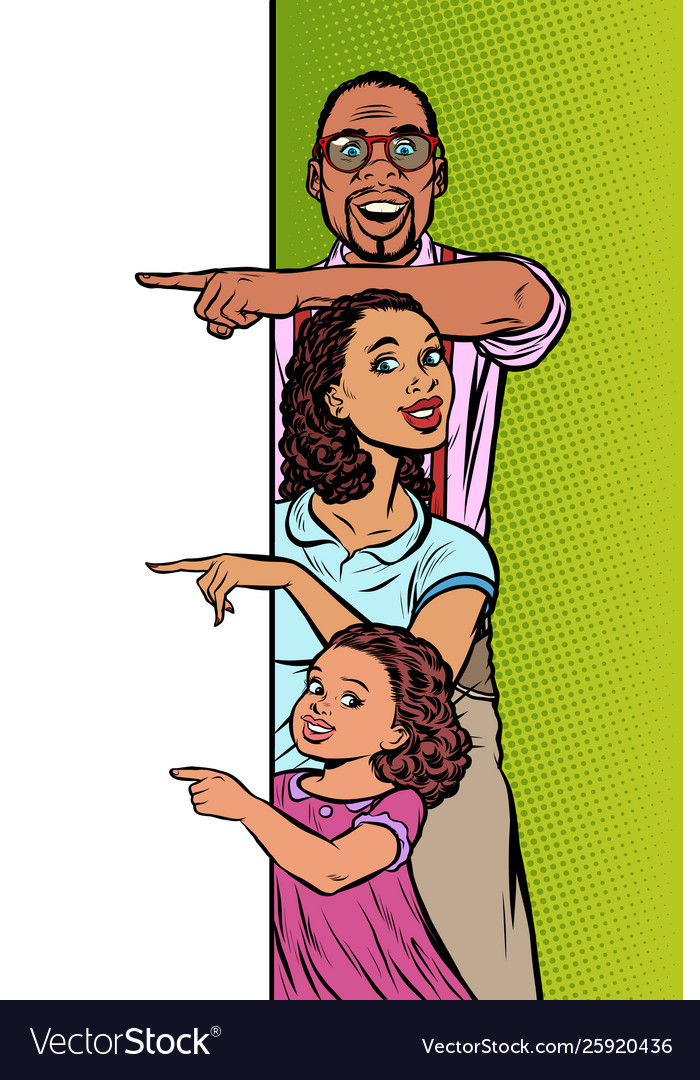 Announcement advertising african american family