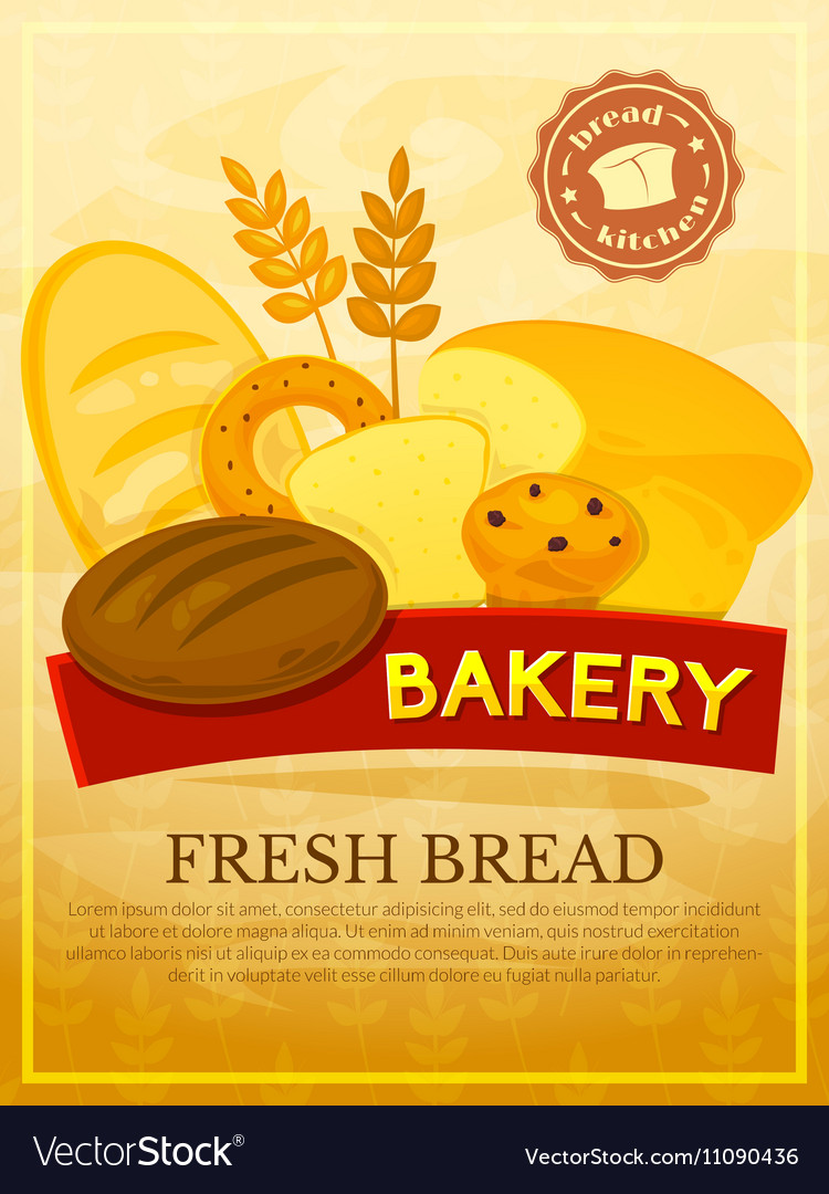 Bakery poster vector image