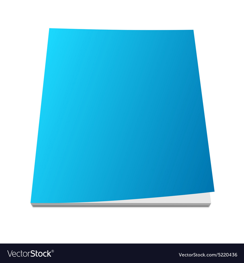 Blank blue magazine cover vector image