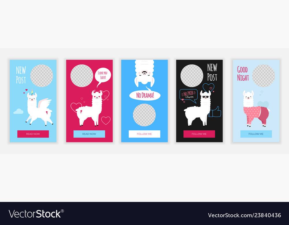 Creative social media stories design template