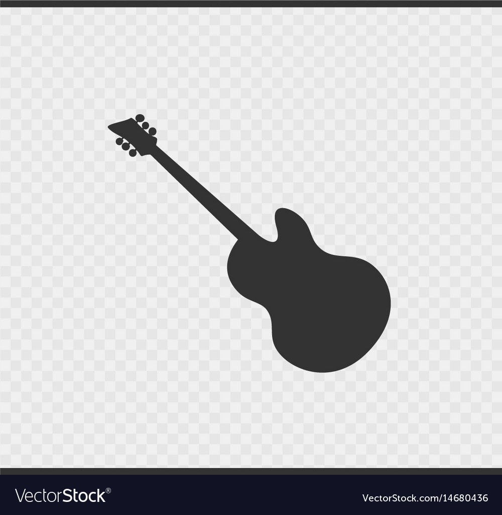 Guitar icon black color on transparent