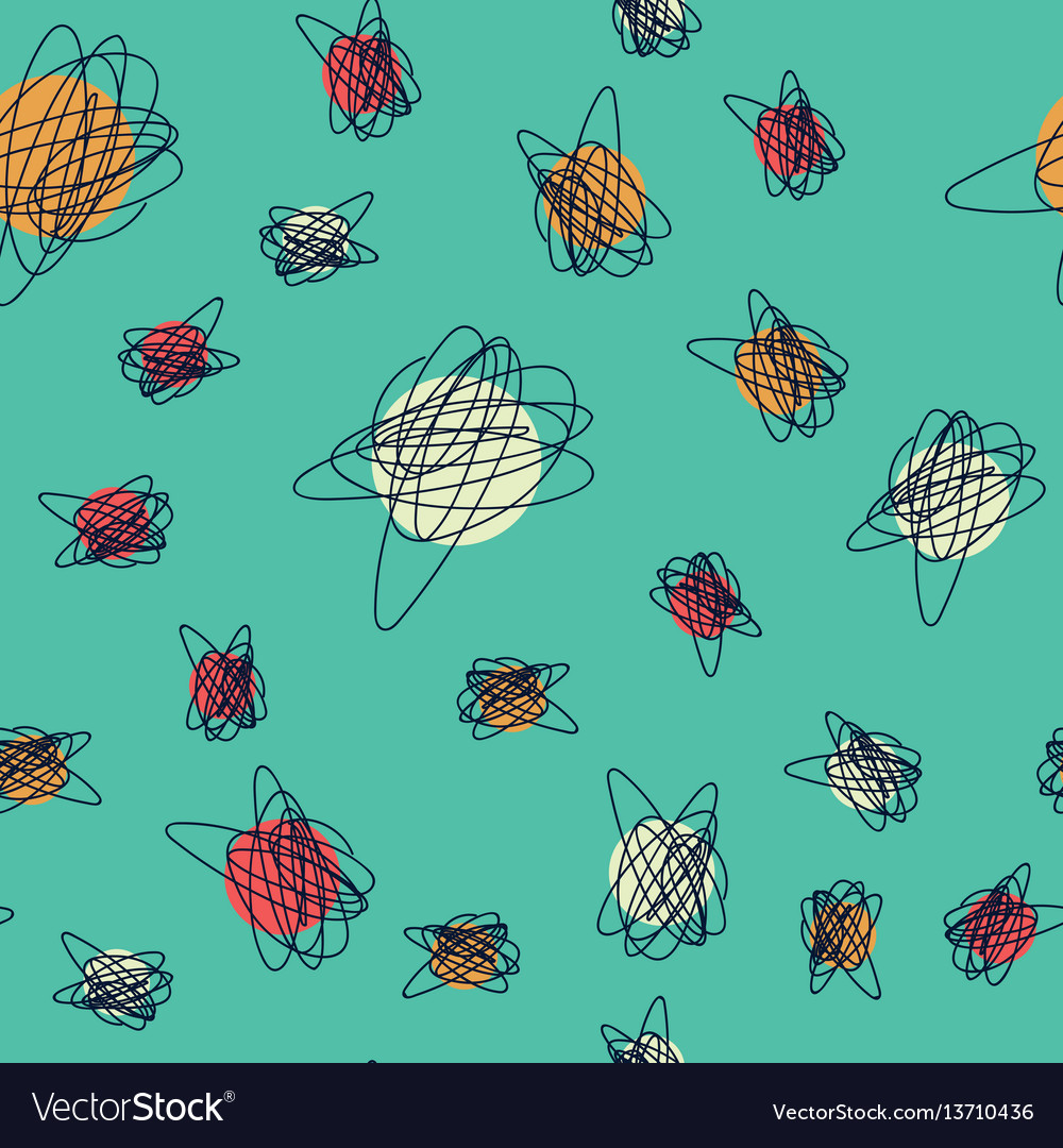 Mid century seamless cirlce pattern