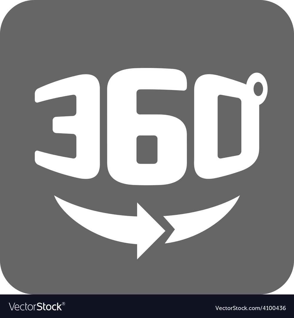 Panorama logo Full 360 degree rotation icon vector image