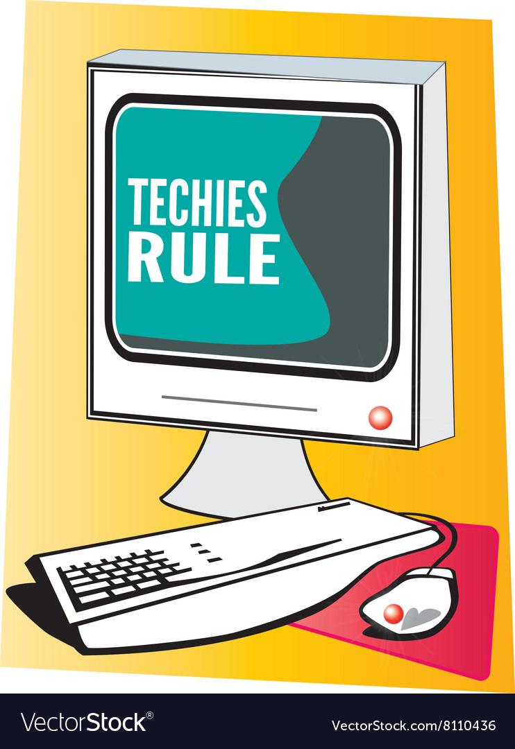 Techies Rule vector image